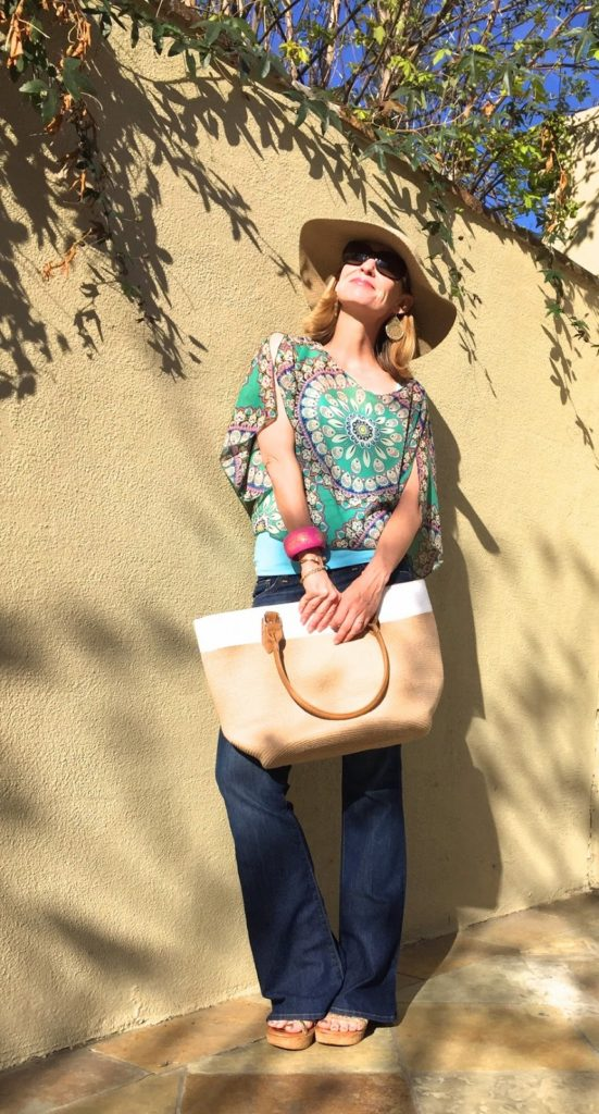 spring patterns, boho over 40, style bloggers over 40, California casual over 40