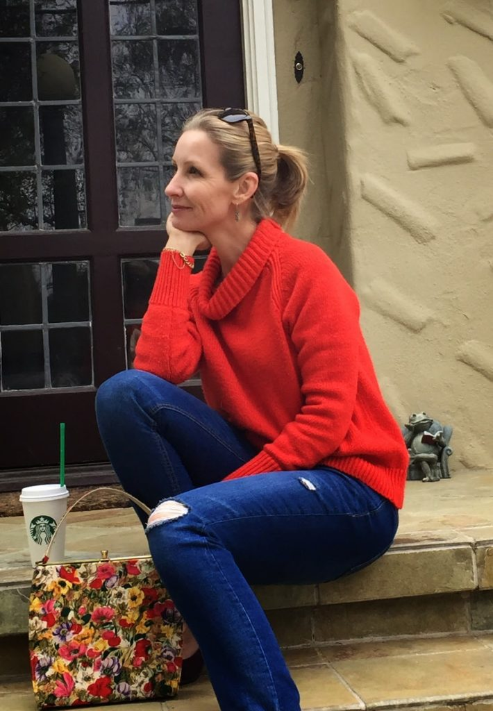 this is 40, 40 something blogger, fashion blog, spring outfit, casual outfit, bf jeans over 40