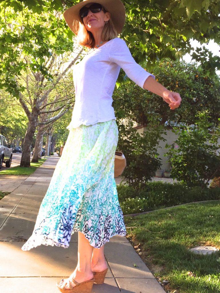 pretty spring skirt, Chadwicks of Boston, Spring 2015, style over 40, fashion