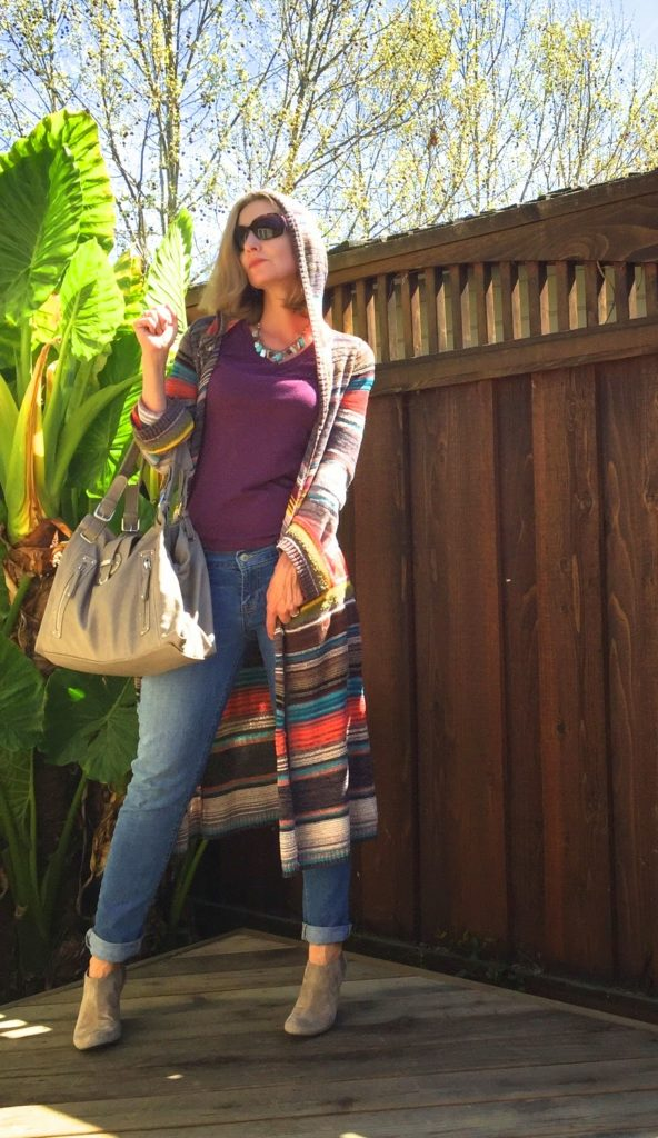 Rainbow colors, Nine West, Vince Camuto. Free People, Lucky Brand, what to wear to a concert, style over 40, fashion over 40, California casual
