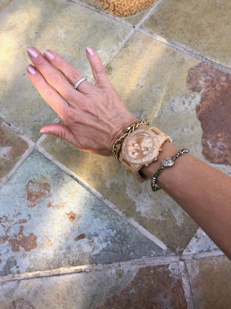 how to wear a wooden watch, arm party