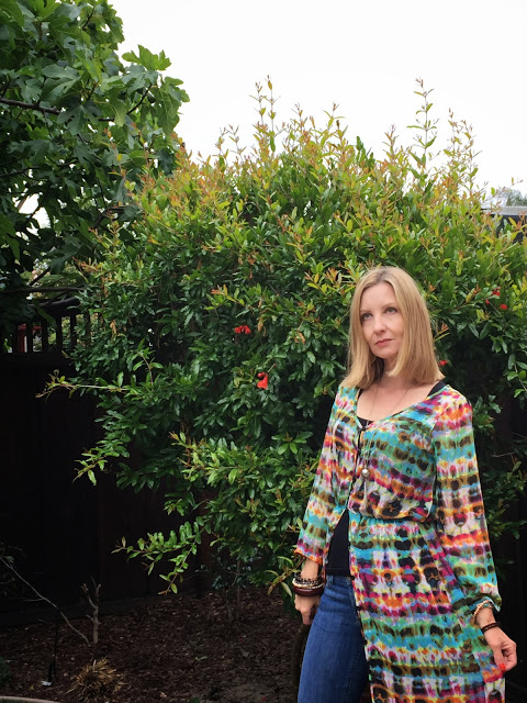 boho over 40, wearing a dress as a coat, California casual, showinbuy review