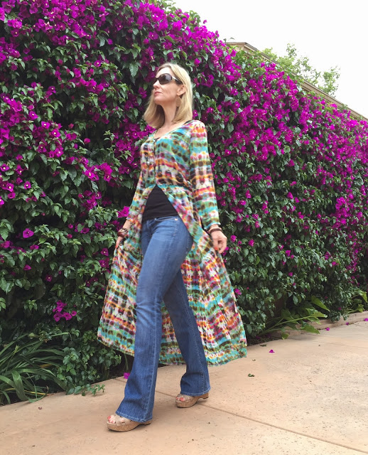 wearing a dress as a coat, spring 2015 trends, boho chic, California boho style