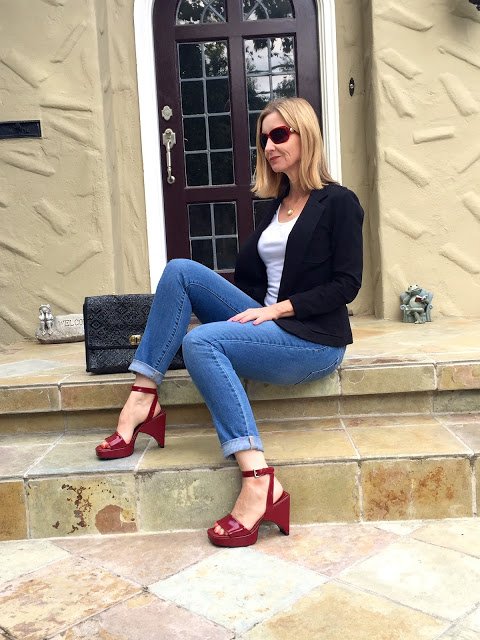 how to style vintage shoes, fashion over 40