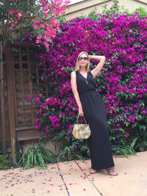 styling a goddess dress over forty