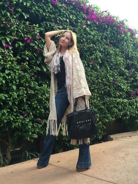 70s style over forty, boho chic over forty
