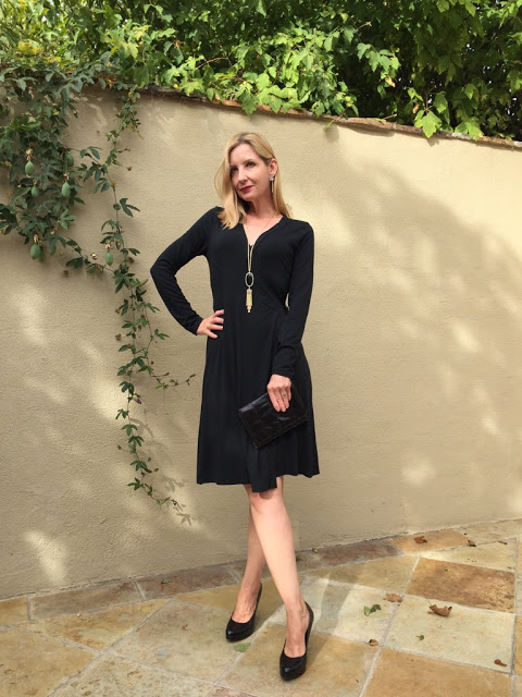 outfit ideas for over forty, work wear outfit, LBD, Little Black Dress over forty