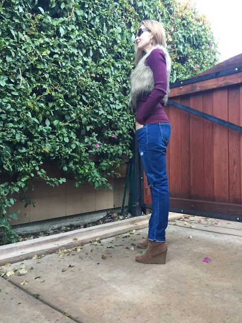 style over forty, trends, faux fur vest
