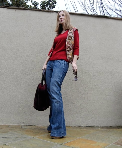 style in your 40s, middle aged fashion bloggers, embroidered vest, styling a vest