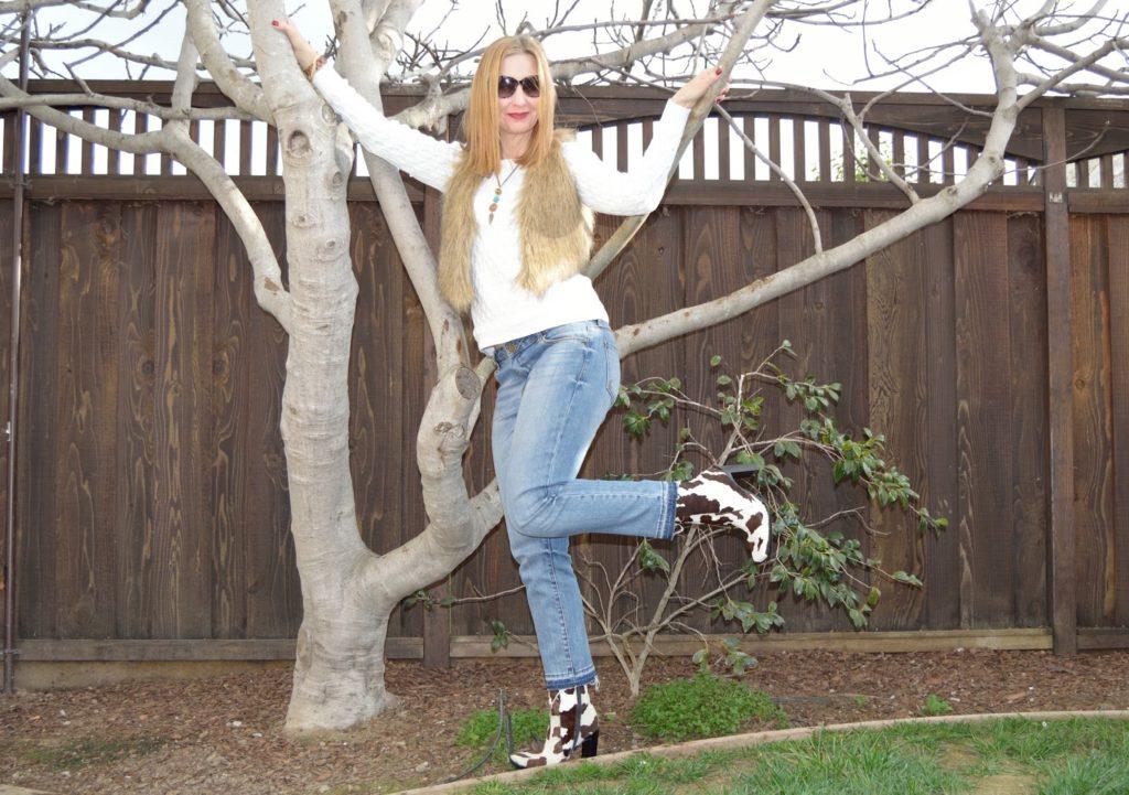 Salt jewelry, Mango boots, KUT from the Kloth jeans