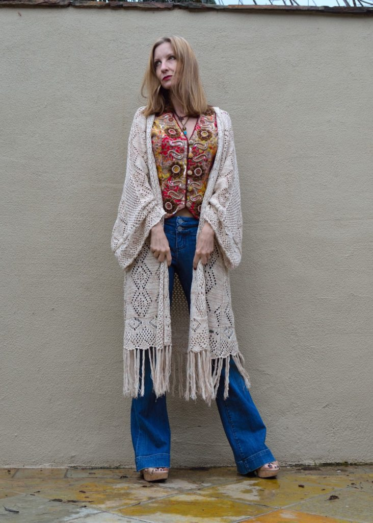 wearing trends over forty, how to do boho over forty, upscale boho