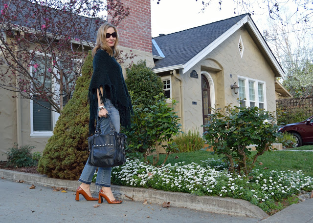 40 plus style, outfit ideas, how to style a poncho