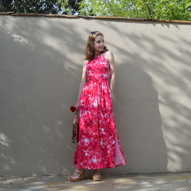 pretty floral maxi dress, Calvin Klein, floral finds