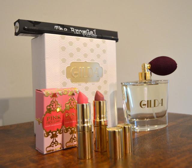 Gilda perfume, BrowGal, Pink Holiday lipstick