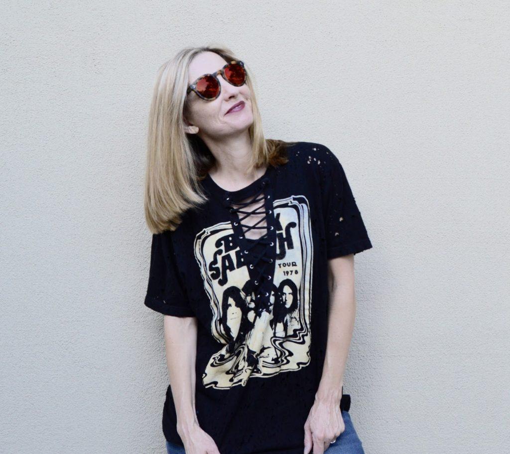 dac6900342d Distressed Rocker Tee   Fun Fashion Friday Link Up Party! - Fashion ...