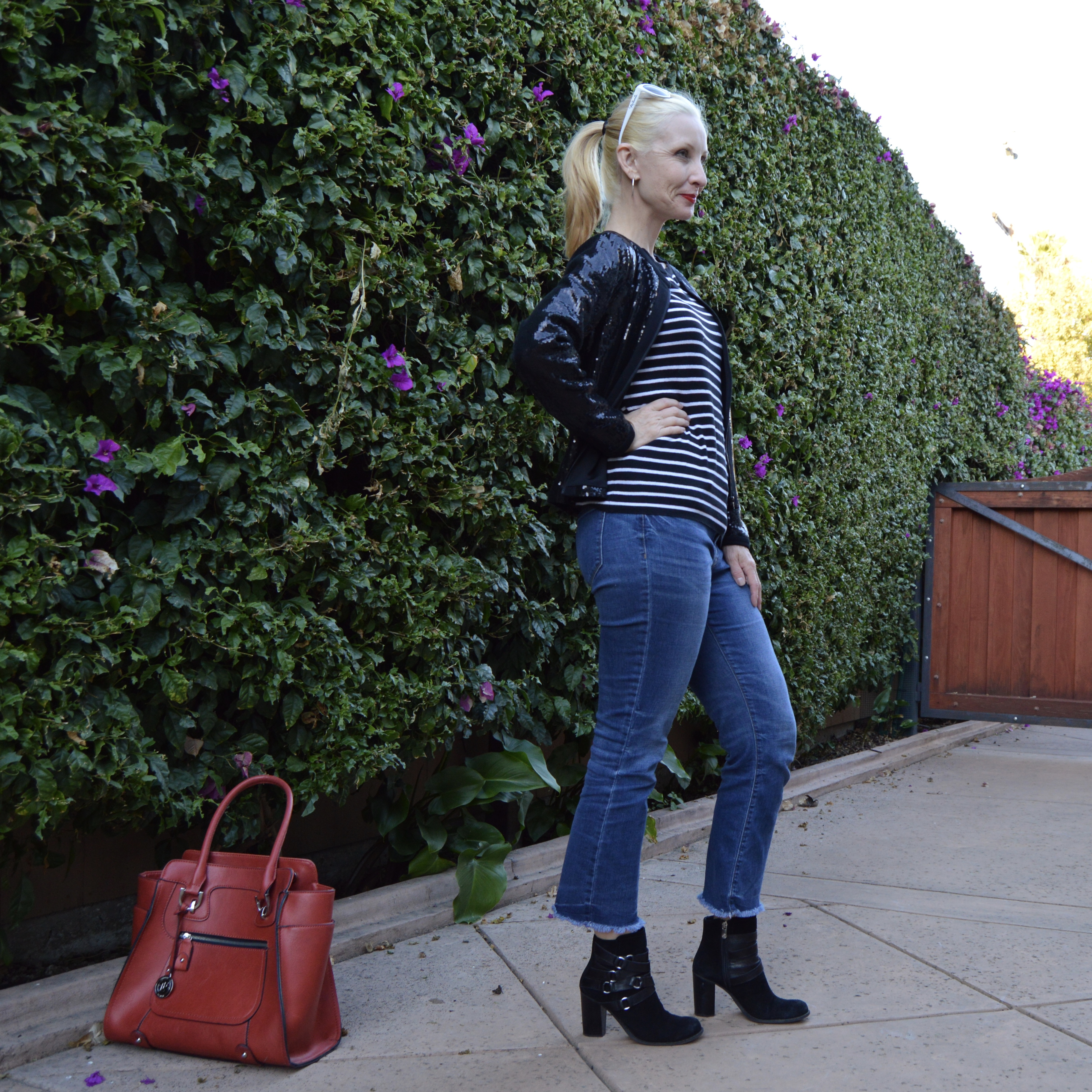 gwen stefani style, fun funky style over 40