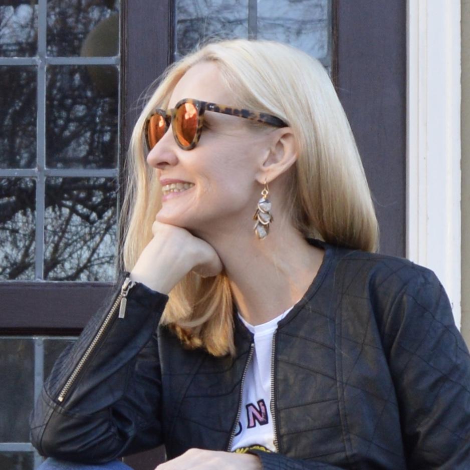 graphic tee, Diana Ferguson earrings
