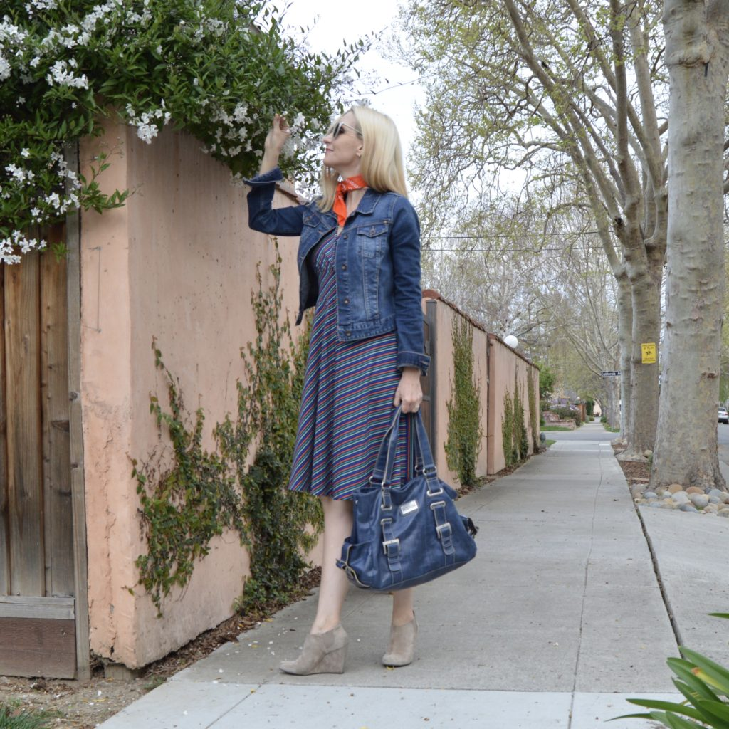Karina Dress Review - Audrey in Mod Stripe