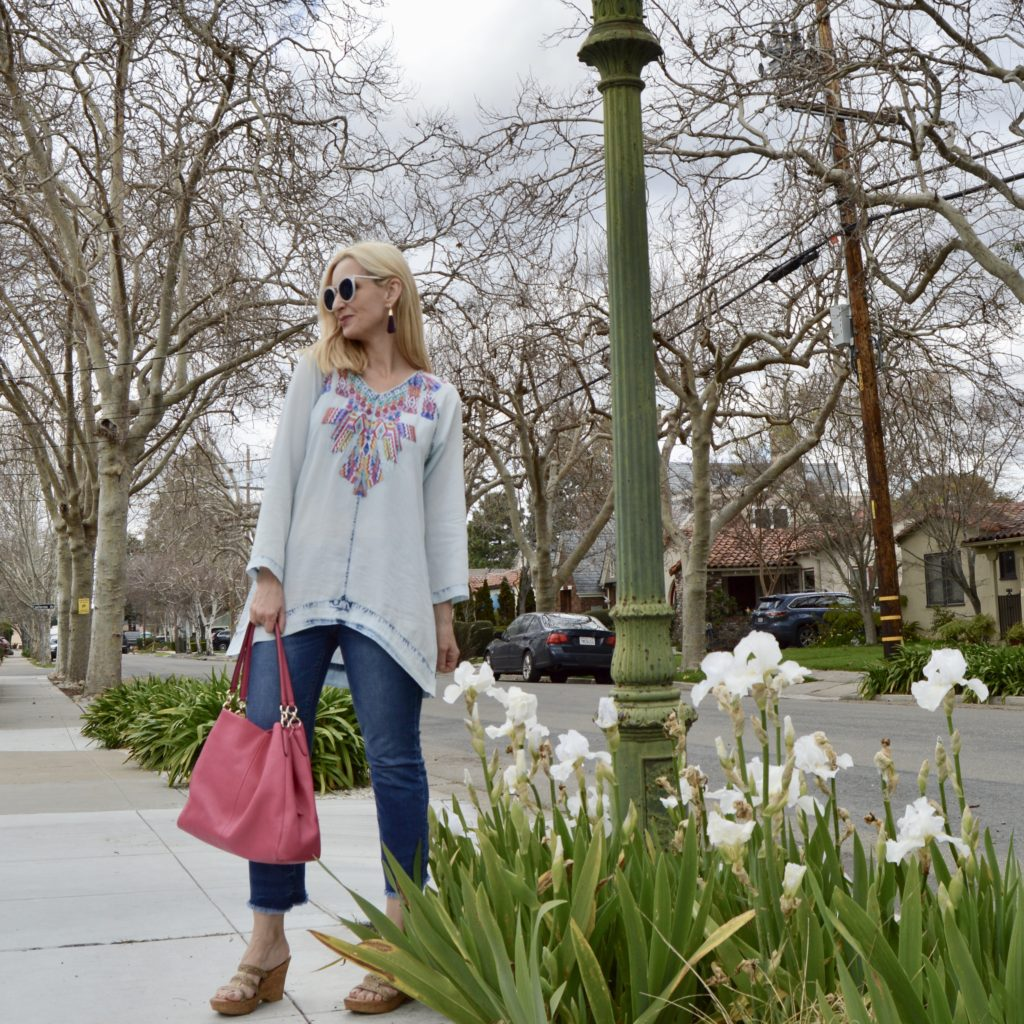 spring tunic, style over 40