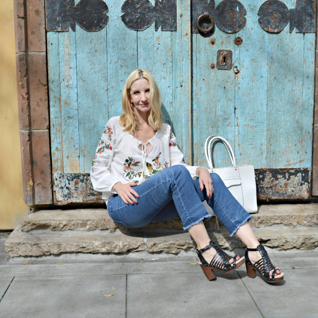 peasant blouse trend over 40