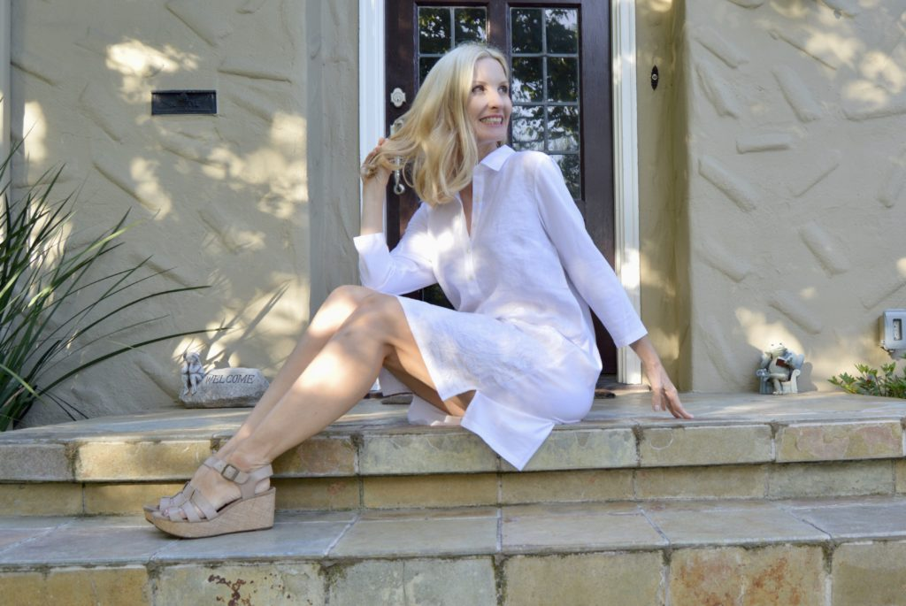 the perfect little white dress for summer, style over 50