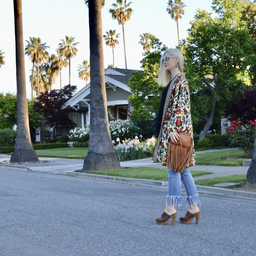 wearing a kimono over 40, trends over 40