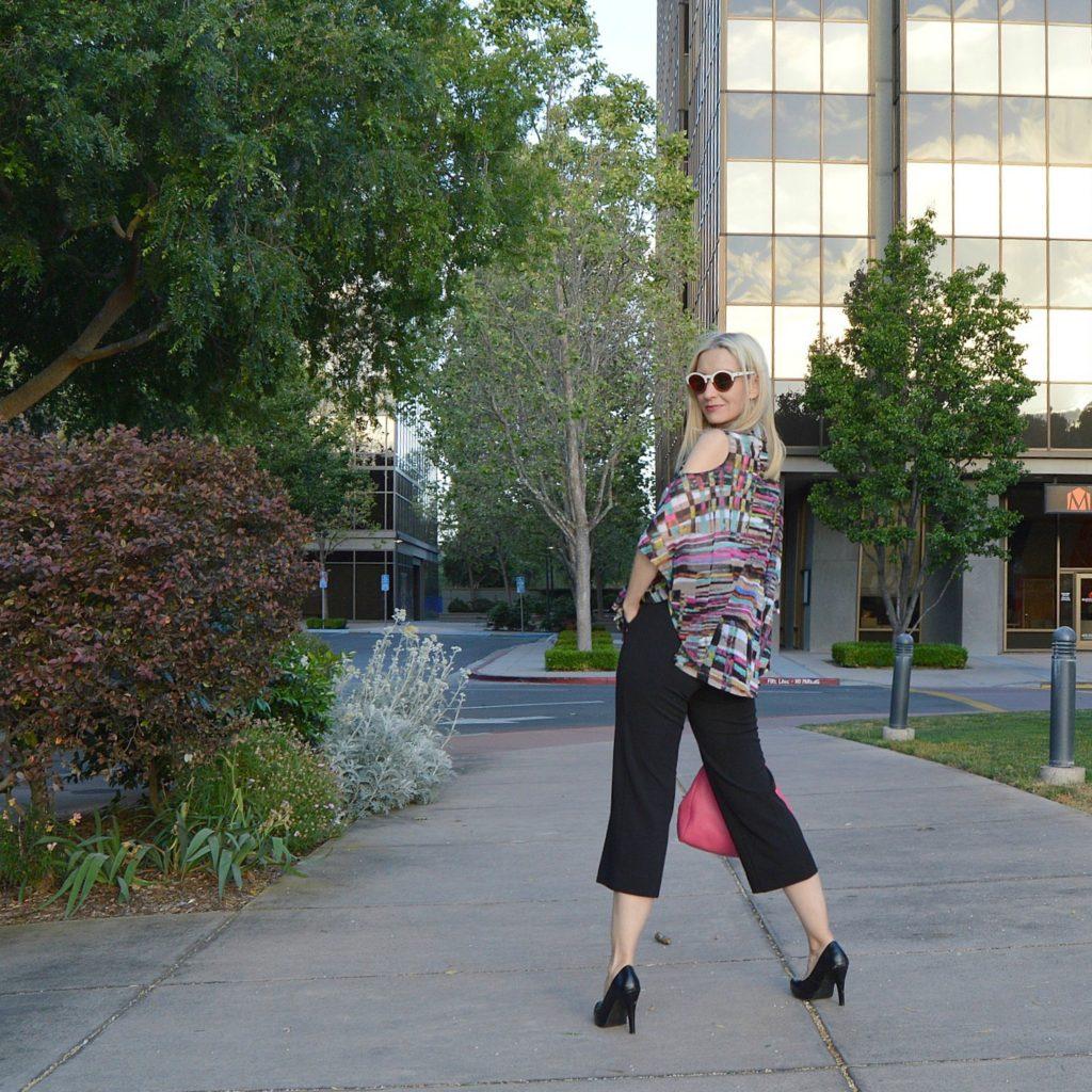 Lynn Ritchie review, cold shoulder blouse