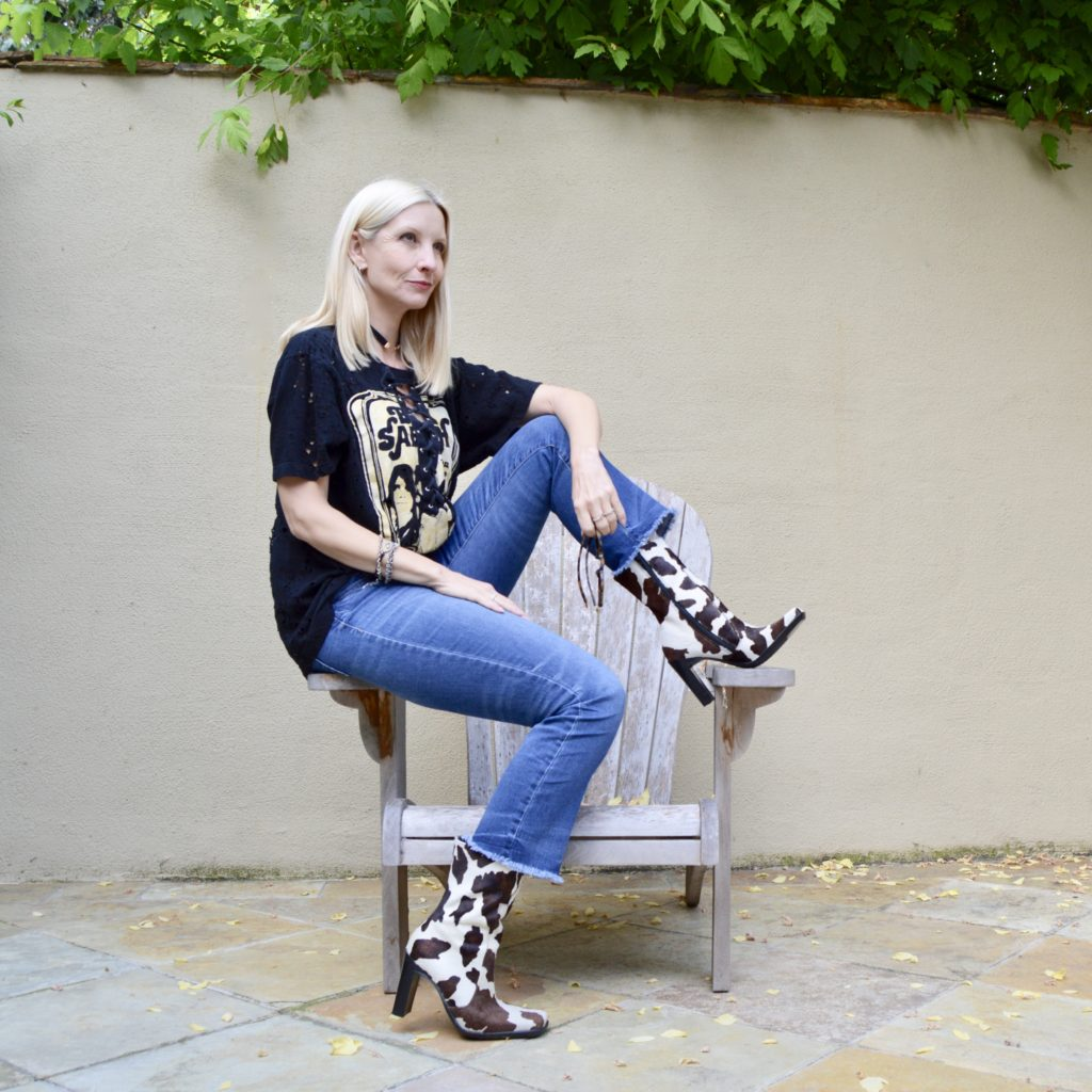 distressed band tee trend