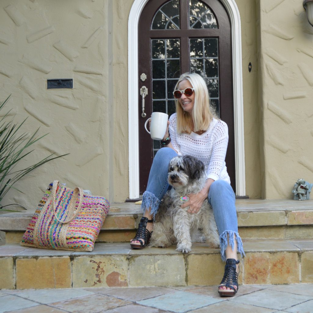 Spring casual outfit, style over 50