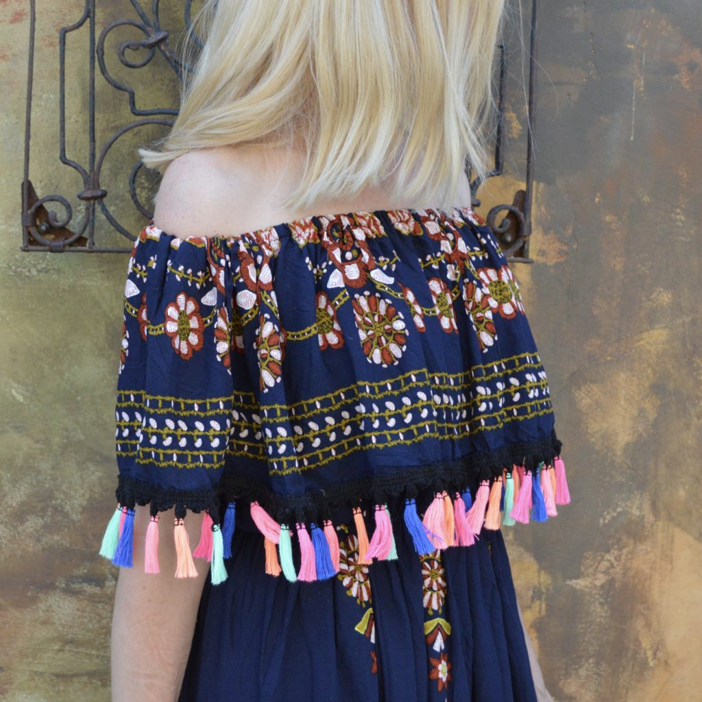 off the shoulder and tassel trends