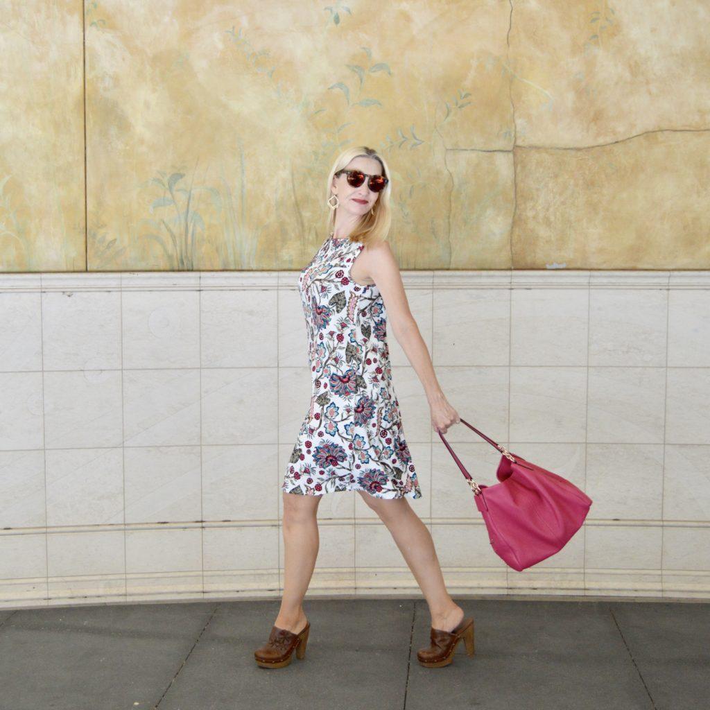 J.Jill Pintucked Knit Swing Dress
