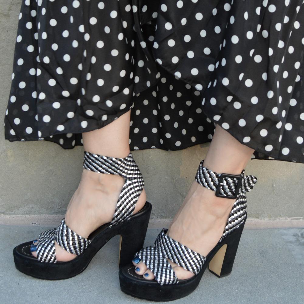 polka dot the shoulder dress link up fashion