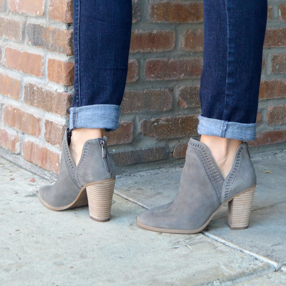 0a5b57e110 Split-Shaft Suede Booties & Denim Jacket with Laces (& Link Up ...