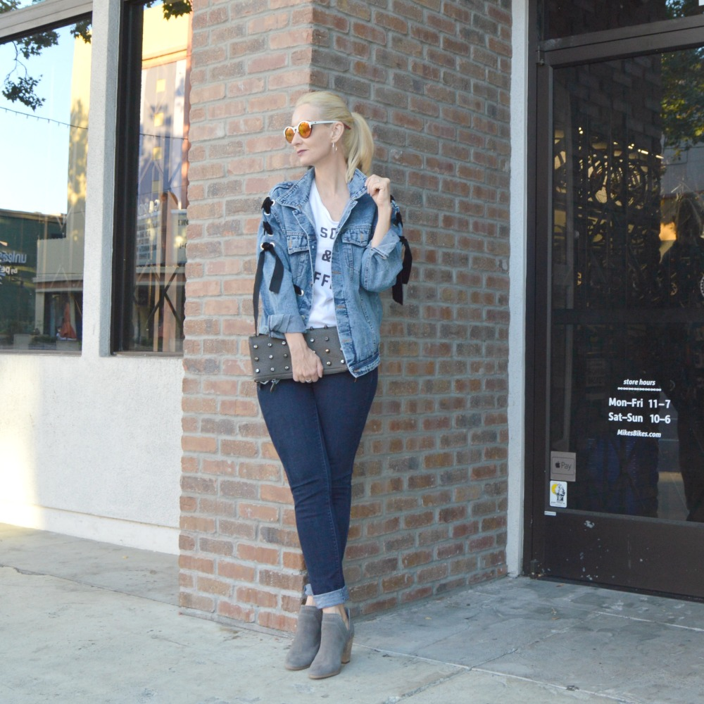 Old Navy curvy jeans, Winkwood sunglasses