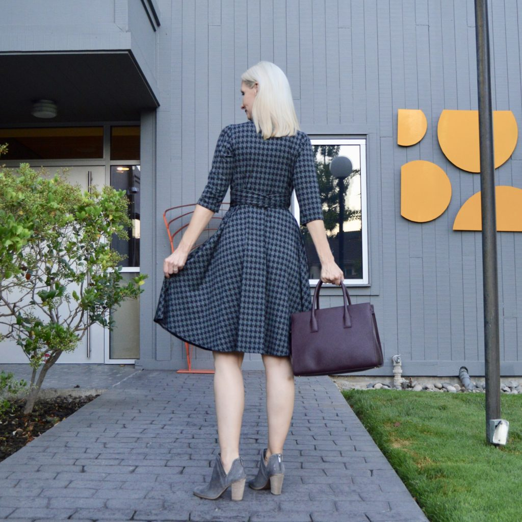 houndstooth dresses for fall 2017, style over 40