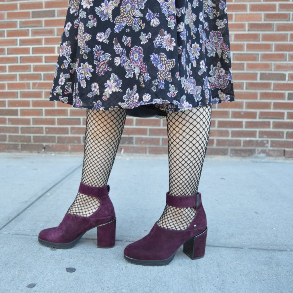 fall florals and fishnets