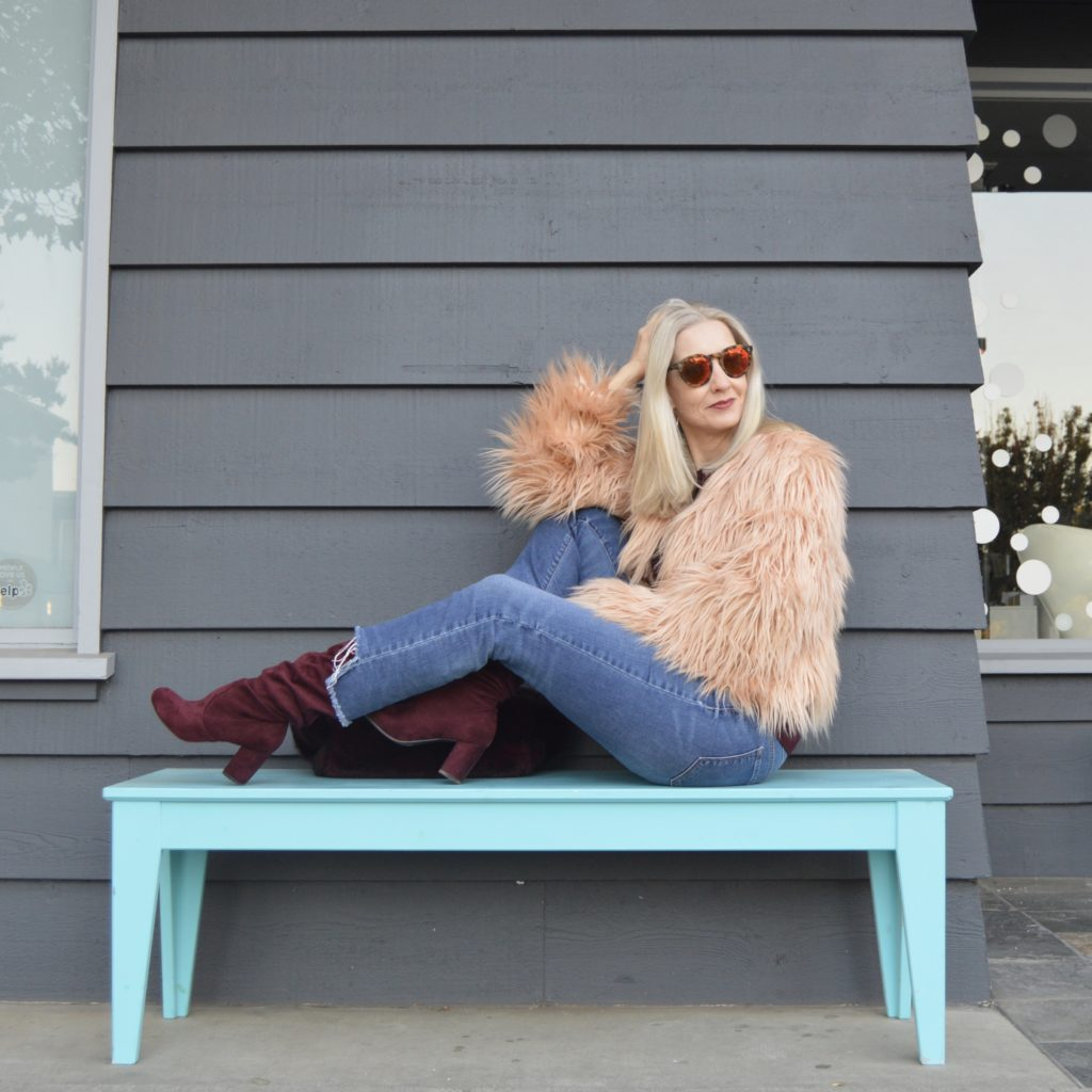 styling faux fur over 40