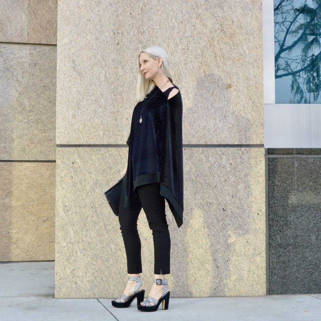 wearing the velvet trend over 40