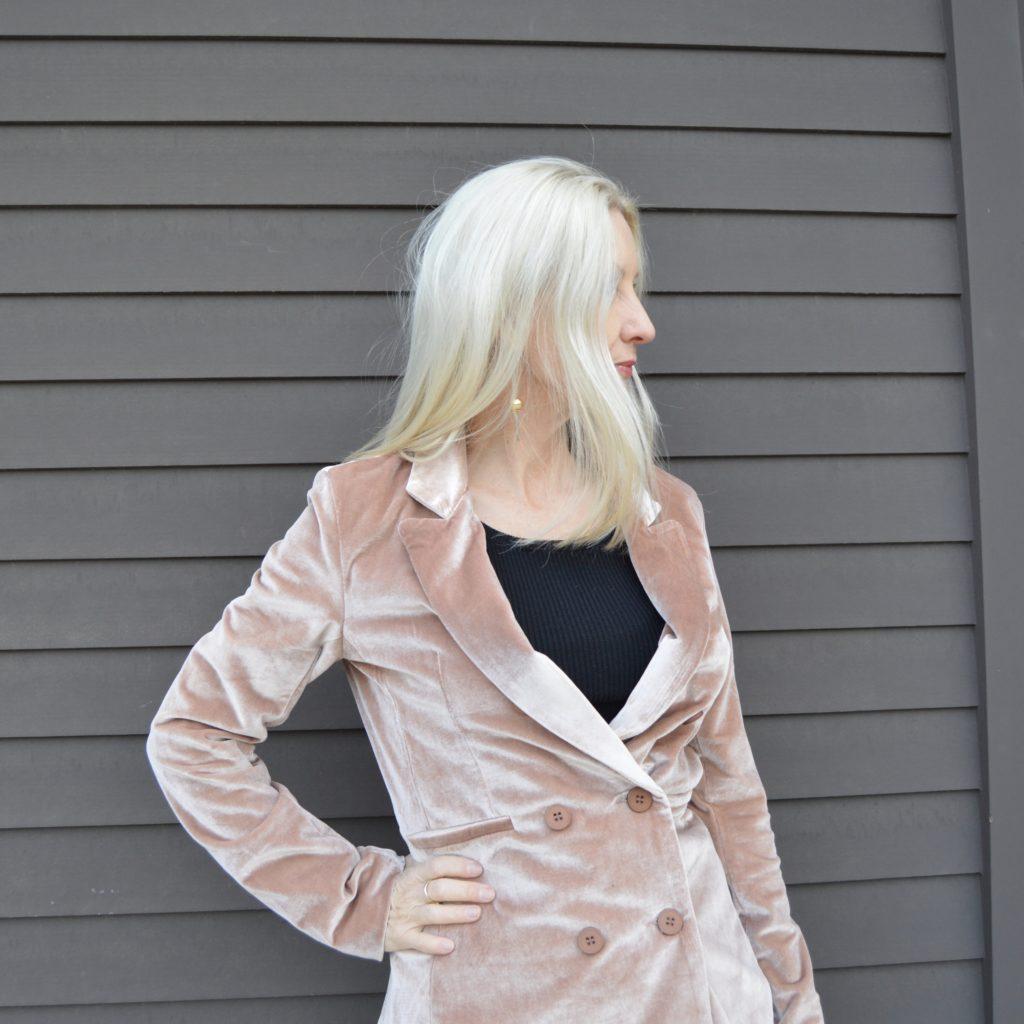 Shein velvet jacket