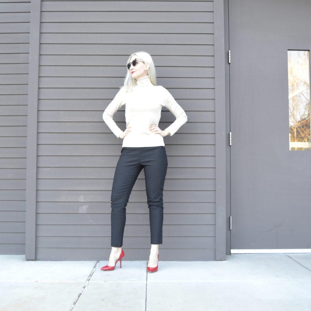 slimming black pants