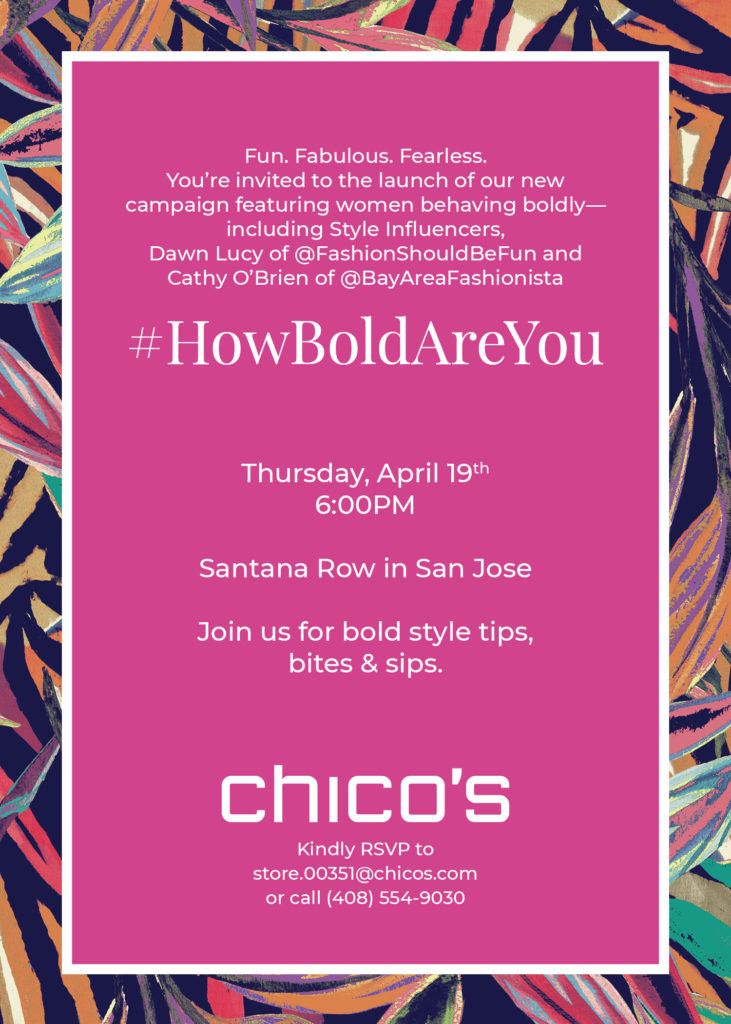 Chico's party at Santana Row, style over 40, midlife