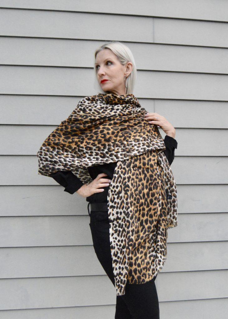 leopard scarf or shawl