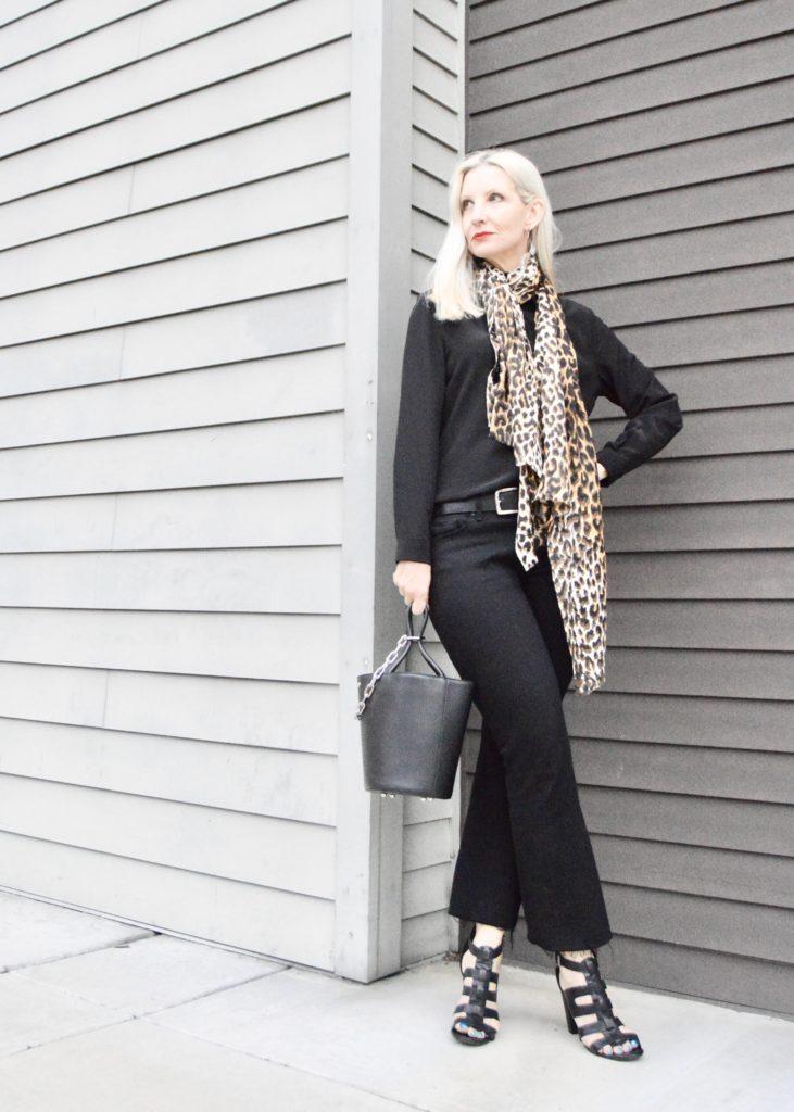 classic leopard print quality scarf