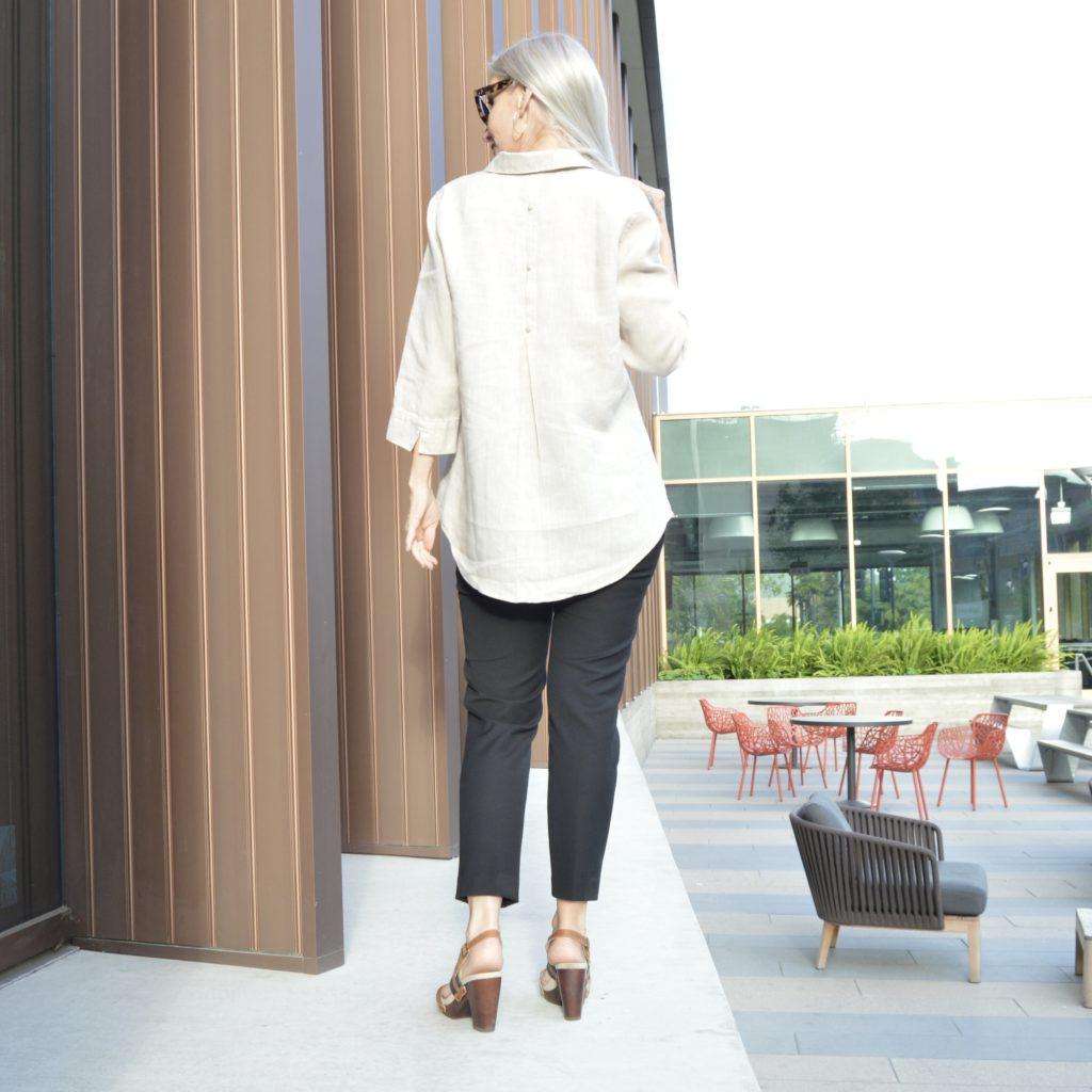 classy and classic linen shirt, no iron shirt