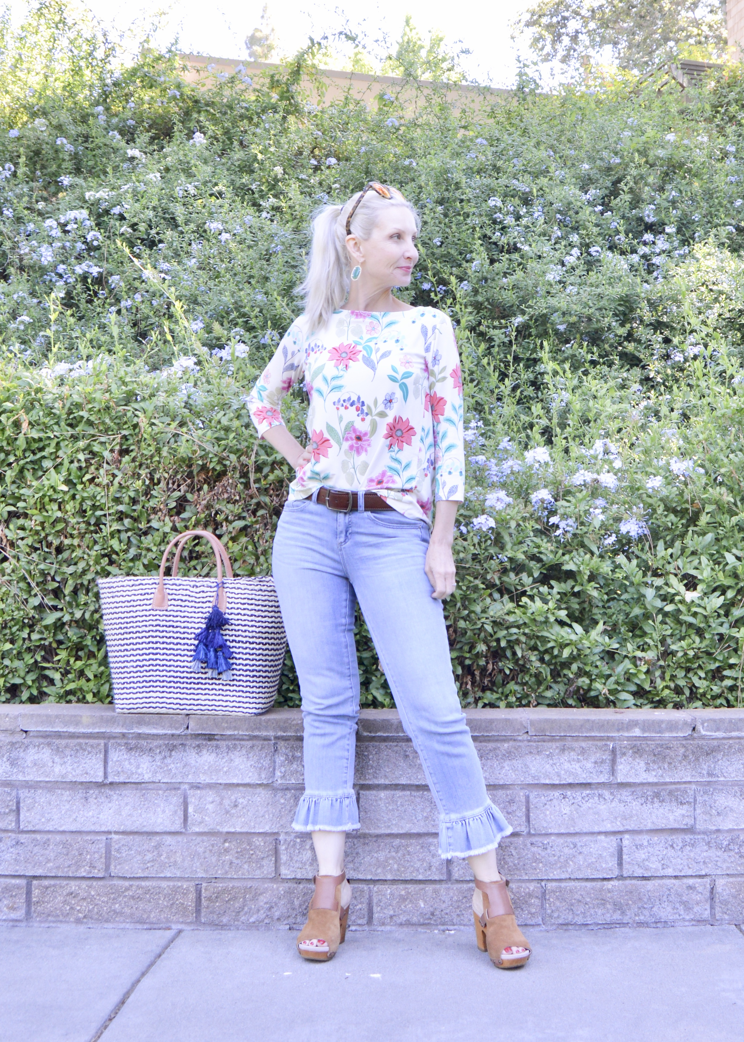 pretty summer knit tops over 40