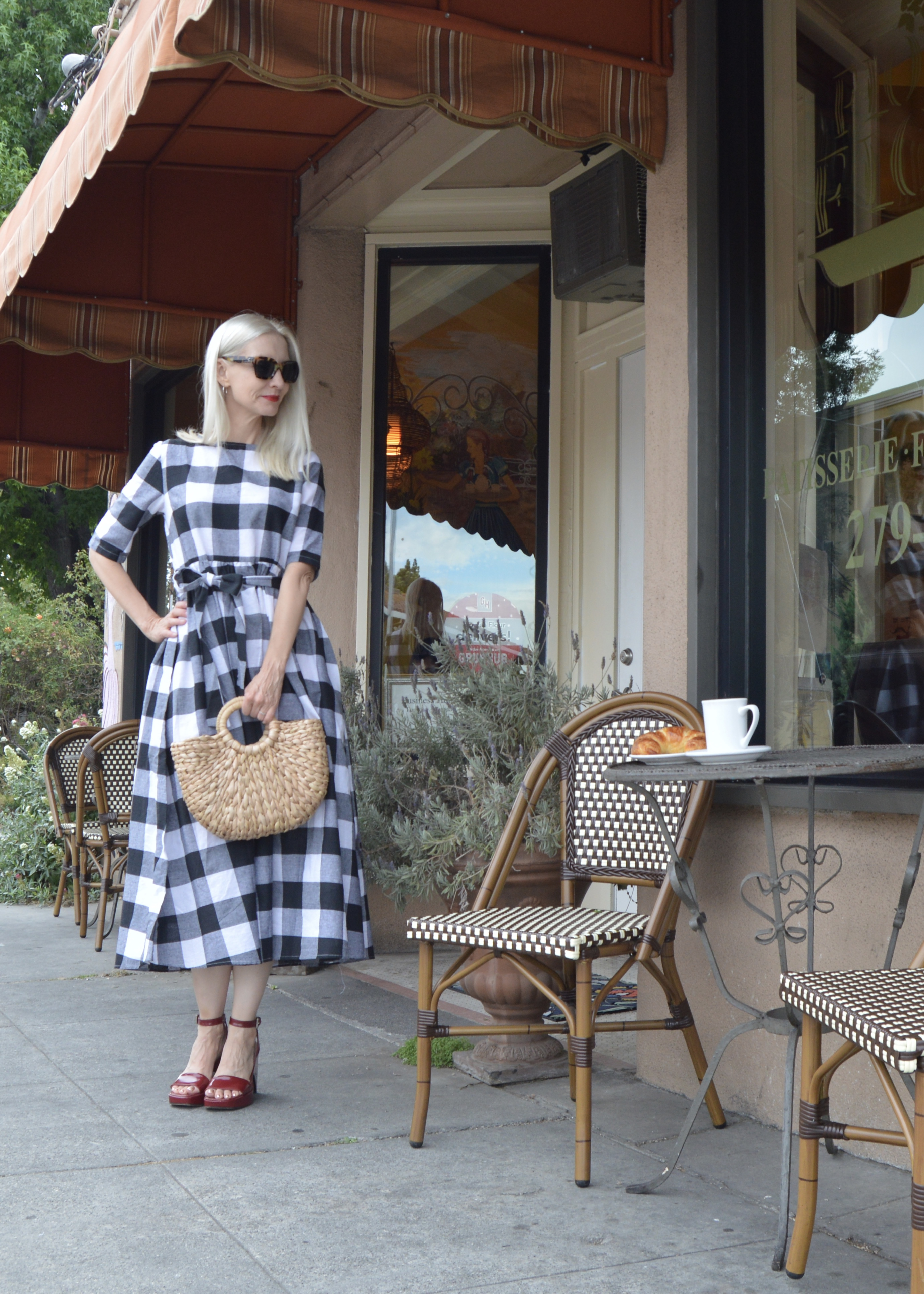 gingham trend, style over 50