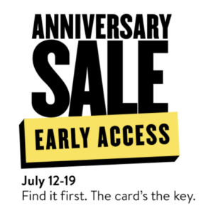 early access to the Nordstrom Anniversary Sale