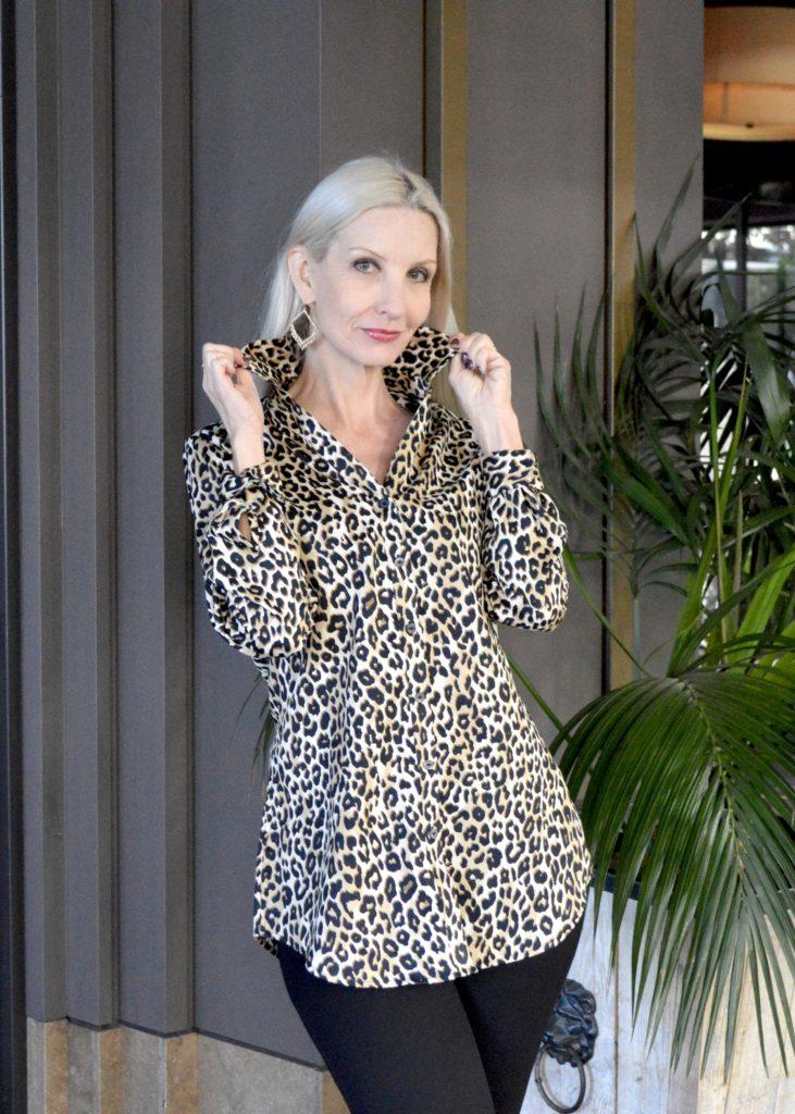 Leopard print tunic shirt