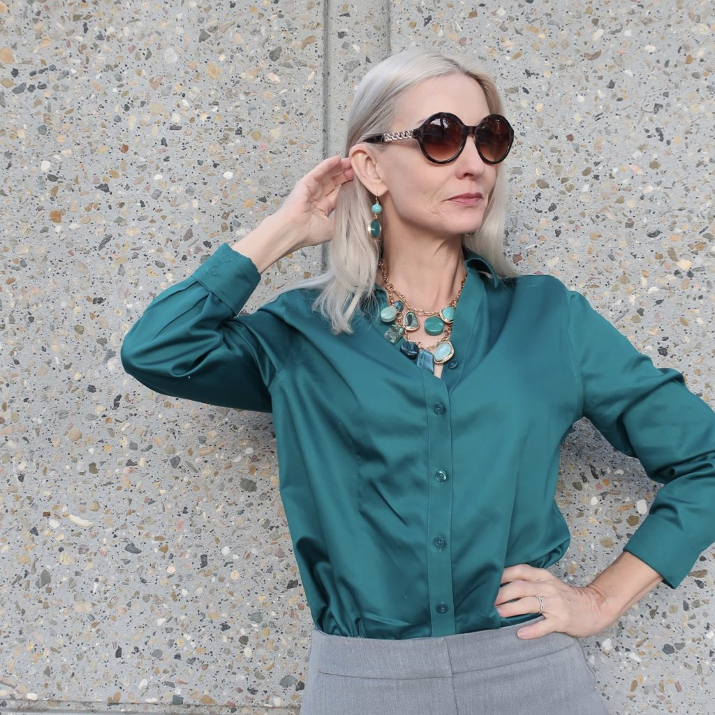 teal for fall 2018, cotton sateen shirt no iron machine washable