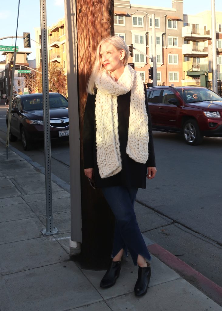 beautiful handknit alpaca scarf from Eileen Fisher